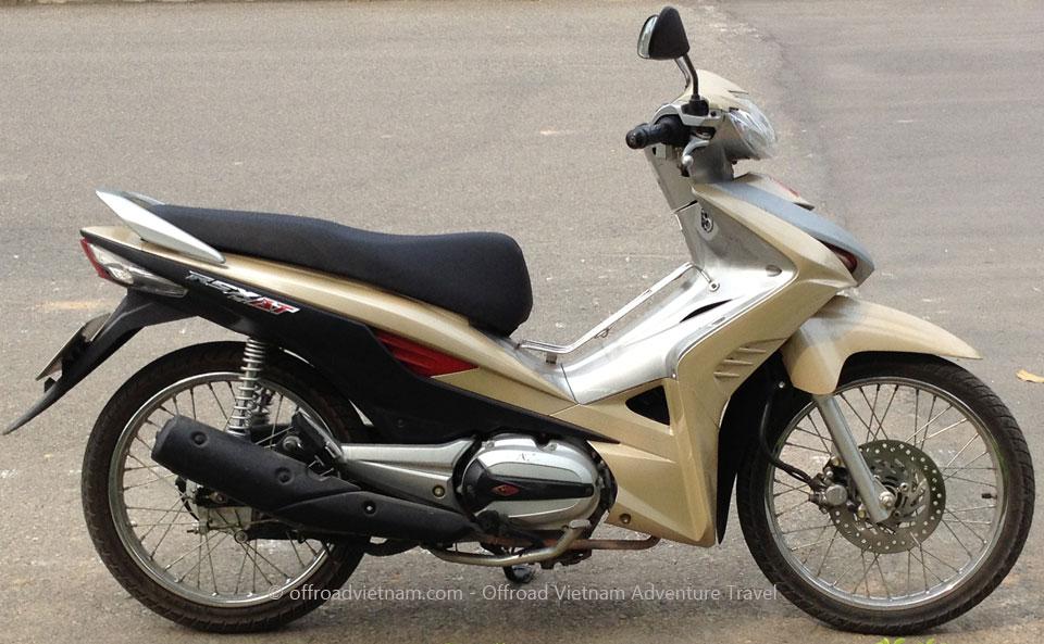 Vietnam Motorcycle & Motorbike Tours touring bike fleet. Honda Wave
