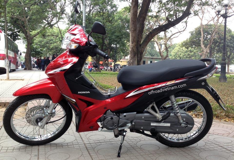 Vietnam Motorcycle & Motorbike Tours touring bike fleet. Honda Wave RS