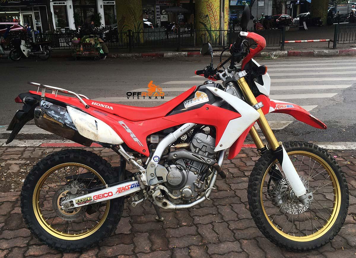 Vietnam Motorcycle Motorbike Tours - Bike Fleet: Honda CRF250L dual enduro for hire in Hanoi