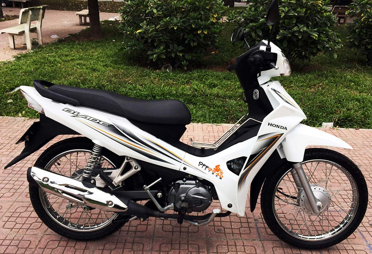 Vietnam Motorcycle Motorbike Tours - scooters for rent in Hanoi. Honda Blade semi-automatic 110cc