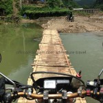 Bamboo bridge in Northeast Vietnam with http://vietnammotorcyclemotorbiketours.com