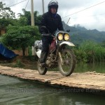 Vietnam motorbiking of Northeast Vietnam in summer