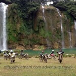 Motorcycling in Ban Gioc through Northeast Vietnam with Vietnam Motorcycle Motorbike Tours