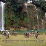 Motorcycling in Ban Gioc through Northeast Vietnam with Vietnam Motorcycle Motorbike Tours